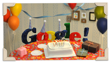 Googles 13th Birthday 2011 hp
